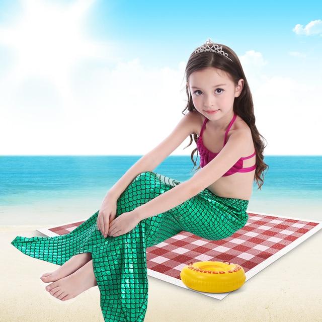 88826be26d 2016 nice cute bikini swimsuits set swimming mermaid tail long dress for  seaside children swim suit clothing pool for girls