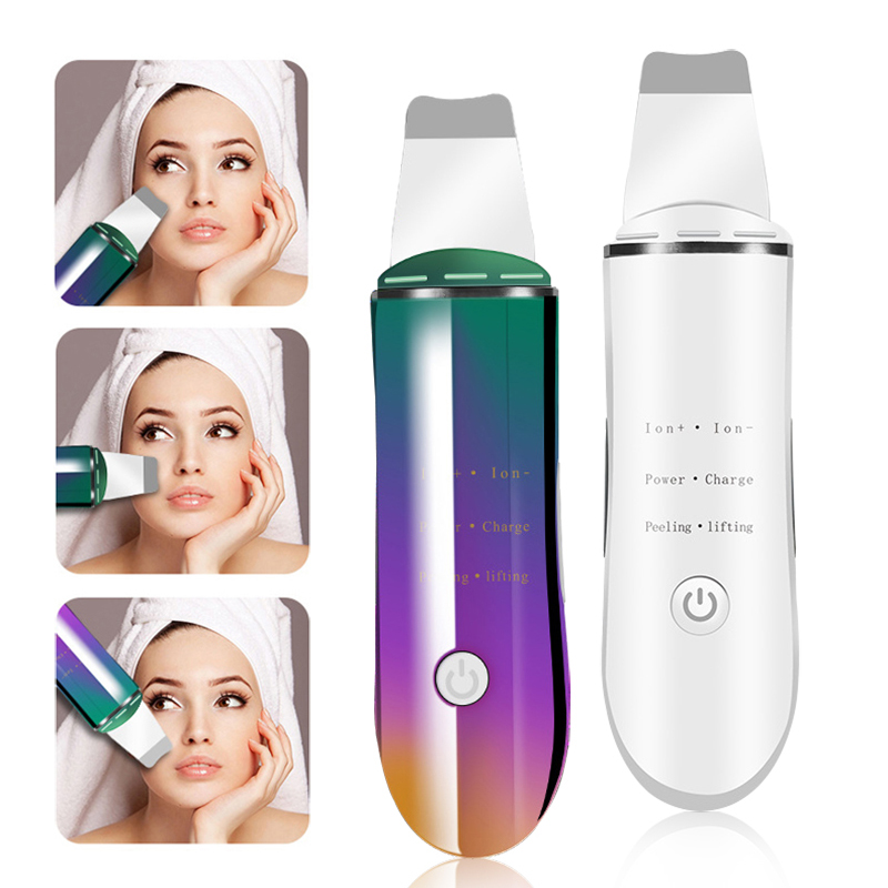 Facial Cleansing Scrubber Device Ultra Sonic Anion Remove Blackhead Exfoliating Cleaner Pores Anti-acne Oil Control Instrument цена