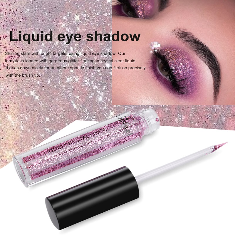 Long lasting Glitter Eyeshadow Waterproof Women Shiny Shimmer Makeup Liquid Eye Shadow sombras de ojos profesional in Eye Shadow from Beauty Health