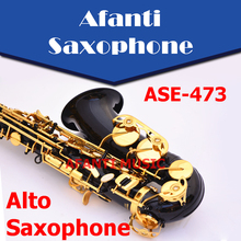 Afanti Music Eb tone / Brass body / Black Nickel Gold Alto Saxophone (ASE-473)