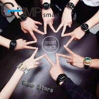 Kingwear bluetooth Smart Watch KW18 Round Screen support SIM TF card Heart rates music bluetooth smartwatch