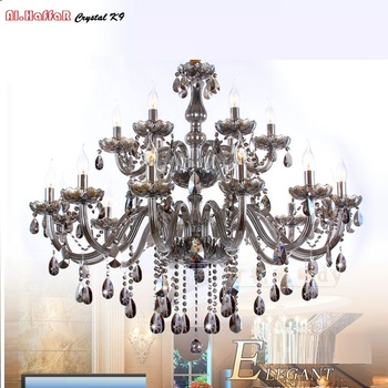 Modern Crystal Chandelier lighting Smoky grey Crystal Chandeliers Large Chandelier lighting Bedroom living room lights lighting chandelier lighting modern crystal lights export k9 crystal chandelier candle chandeliers crystal villa living room chandelier