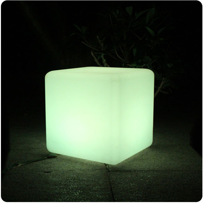 30cm RGBW 16 color Changing with remote control batter powered Cordless Rechargeable <font><b>LED</b></font> Light <font><b>cube</b></font> Chair Free shipping 2pcs/lot image