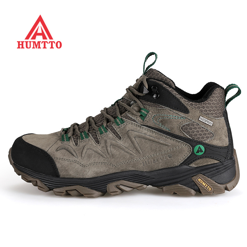 New winter hiking men's climbing shoes mountain boots outdoor sports breathable sneakers scarpe uomo sportive genuine Rubber