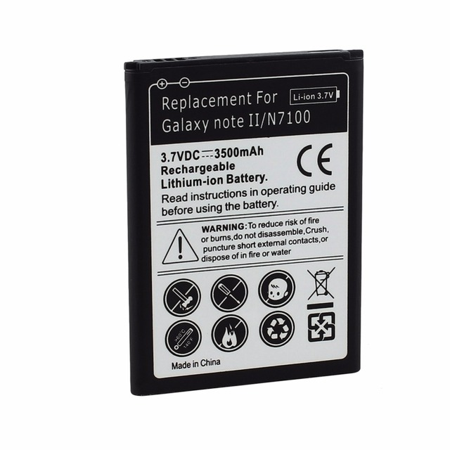 For Samsung Galaxy Note 2 II GT-N7100 Phone Replacement Rechargeable 3500mAh Battery Note2 Celular Bateria FreeShipping
