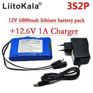 Image 4 - Портативный суперперезаряжаемый комплект литий ионных батарей Liitokala, постоянный ток 12 В 12,6 В, аккумулятор 6800 мАч, камера видеонаблюдения