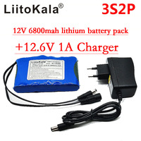 Liitokala Portable Super Rechargeable Au Lithium Ion batterie capacité DC 12 V 12.6 v 6800 mah batterie CCTV Cam Moniteur