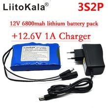 Liitokala Портативный супер Перезаряжаемые литий-ионный аккумулятор Емкость DC 12 В 12.6 В 6800 мАч батареи CCTV Cam Мониторы