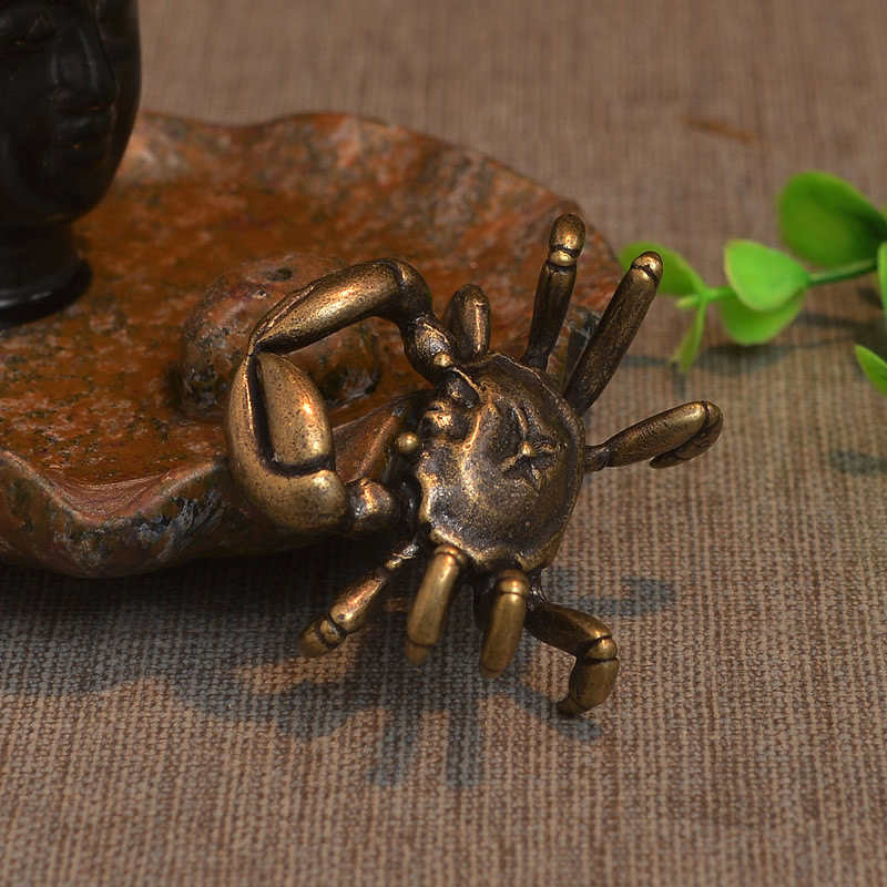 Pure bronze Mini crabs, handicraft ornaments, tea sets accessoryPure bronze Mini crabs, handicraft ornaments, tea sets accessory