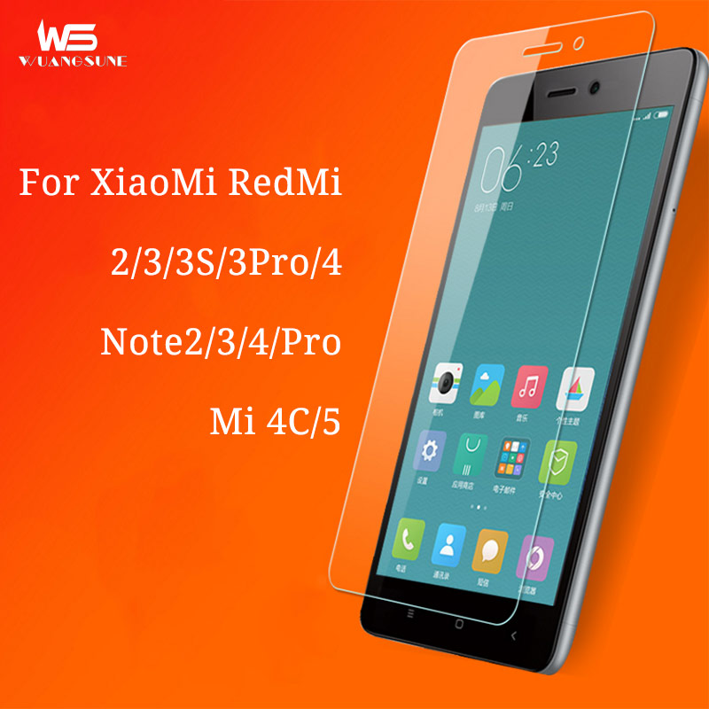 For xiaomi redmi 3 3s 4 pro Explosion-proof Tempered Glass Film Redmi note2 3 4X pro for xiaomi 4C 5 phone Screen Protector Film