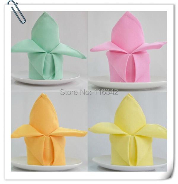 Factory Price 100pcs 50cm*50cm Polyester Wedding Napkins Cloth/fabric table napkins Restaurant napkin Free Shipping MARIOUS