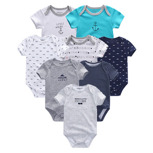 Image 3 - 2020 8PCS/lot Clothing Sets Cotton Newborn Unicorn Baby Girl Clothes Bodysuit Baby Clothes Ropa bebe Baby Boy Clothes