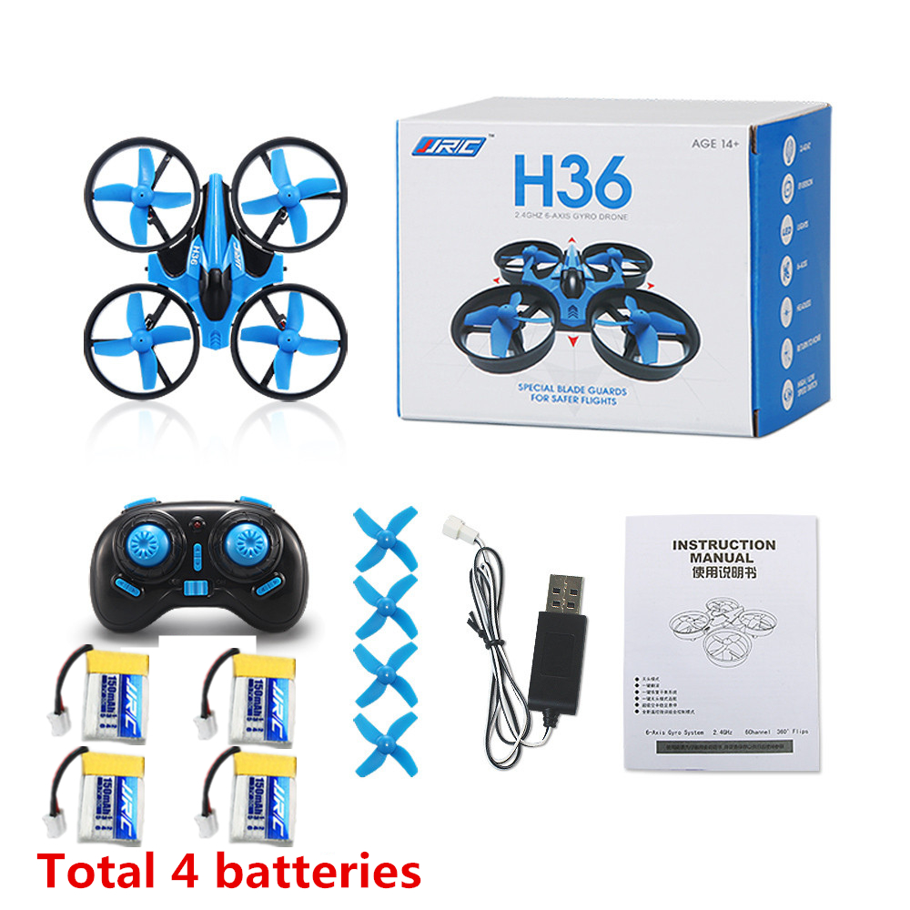 RC Drone Mini Drone JJRC H36 6 Axis RC Quadcopters With Headless Mode Drones One Key Return RC Helicopter Toy Gifts drone with camera h5c 2 4ghz 6 axis wth gyro rc quadcopter one key return headless mode rc aircraft rtf helicopter toy kid gifts