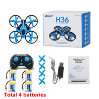 RC Drone Mini Drone JJRC H36 6 Axis RC Quadcopters con Drones Headless Modo de Una Tecla de Retorno RC Helicóptero de Juguete regalos