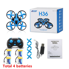 RC Drone Mini Drone JJRC H36 6 Axis RC Quadcopters With Headless Mode Drones One Key Return RC Helicopter Toy Gifts
