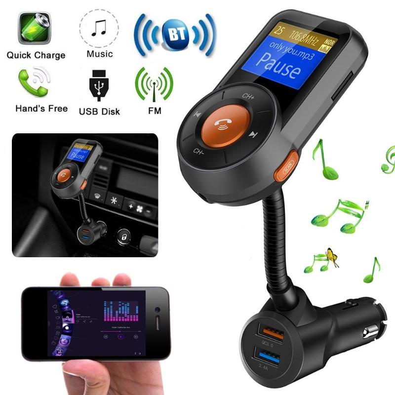1 Stück Bluetooth-freisprecheinrichtung Call Kit Fm Transmitter Mp3-player App Auto Locator Fm Modulator Freisprechen Bluetooth Auto Kit Lcd Display Weder Zu Hart Noch Zu Weich