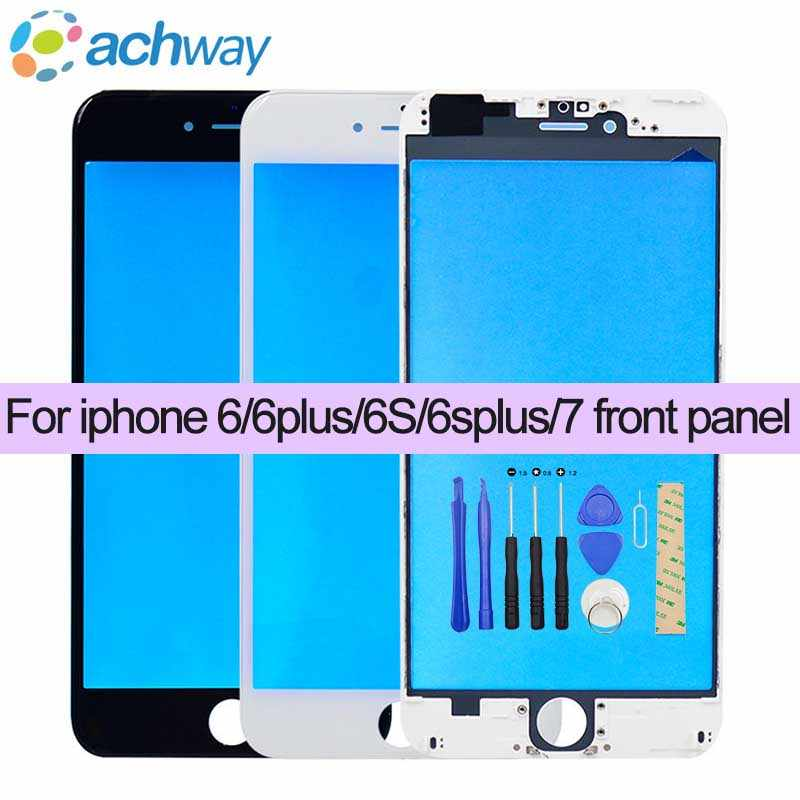 Front Outer Glass Lens replacement part+Frame for iphone6 6S plus 7/ 7Plus Top LCD Touchscreen+tools for iphone 6/7 front panel