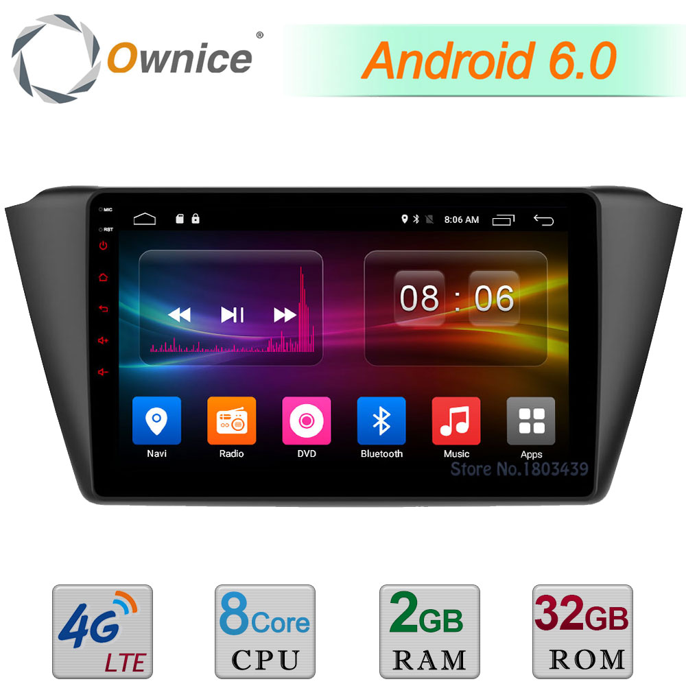 C500+ 9 Android 6.0 Octa Core 2GB RAM 32GB ROM 4G LTE WIFI DAB+ TPMS Car DVD Multimedia Player Radio For Skoda Fabia 2015 2016 ownice c500 android 6 0 octa 8 core for bmw e46 m3 car dvd gps navi wifi 4g bt radio rds 2gb ram 32gb rom support dab tpms