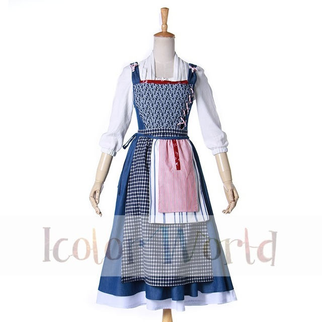 New 2017 Movie Beauty and The Beast Belle Maid Cosplay Costume Maid Costume  sc 1 st  AliExpress.com & New 2017 Movie Beauty and The Beast Belle Maid Cosplay Costume Maid ...