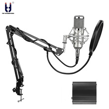 Ituf New Professional Condenser Microphone for computer bm 800 Audio Studio Vocal Recording Mic KTV Karaoke + stand