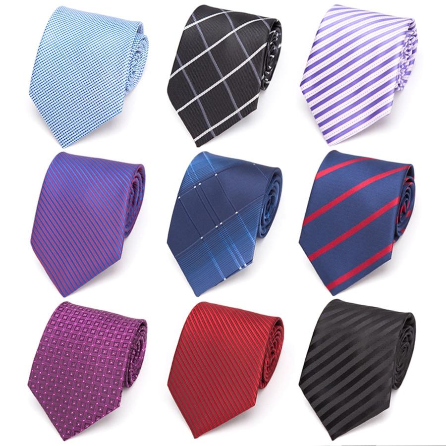 Men Ties 8cm Fashion Stripe Necktie Mens Business Classic Formal Wedding Bow Tie Shirt Dress Accessories Corbatas Para Hombre