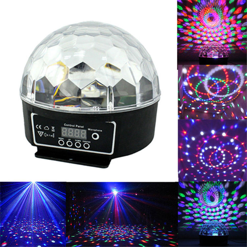 AIMIHUO RGB DMX512 Digital Crystal Magic Ball Stage Light Projector Effect LED Light KTV mini lase dmx512 digital display 24ch dmx address controller dc5v 24v each ch max 3a 8 groups rgb controller