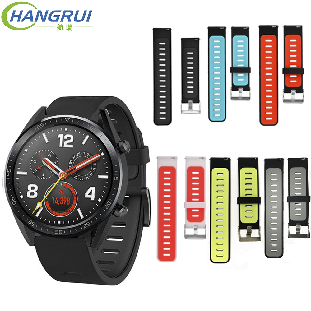 22mm Smart Watch Band for Huami Amazfit stratos 2 Strap Fashion Sport Silicone Replacement Strap for Huawei Watch GT Wrist Band