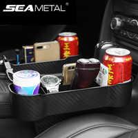 Caja de almacenamiento de accesorios para automóvil organizador automático para espacio de asiento estuche bolsillo lateral para asiento de coche hendidura para billetera teléfono monedas llaves de cigarrillos, tarjetas