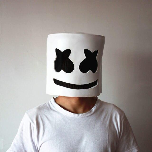 maschera marshmello dj  Divertente Marshmello Maschera Cosplay Costume DJ Tiesto Full Face ...