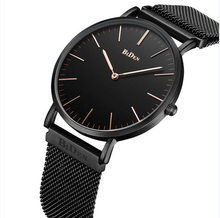 Biden brand wristwatches simple mens stainless steel Mesh belt black rose gold silver man casual quartz watches waterproof(China)