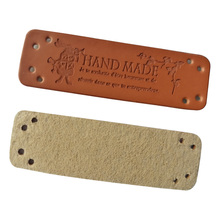 48pcs/lot win-win hand made pu leather sewing accessories for gift bag handmade for handwork leather labels for clothes win win logo hand made leather labels for gift sewing win logo hand made tags for clothes gift handmade leather sewing label