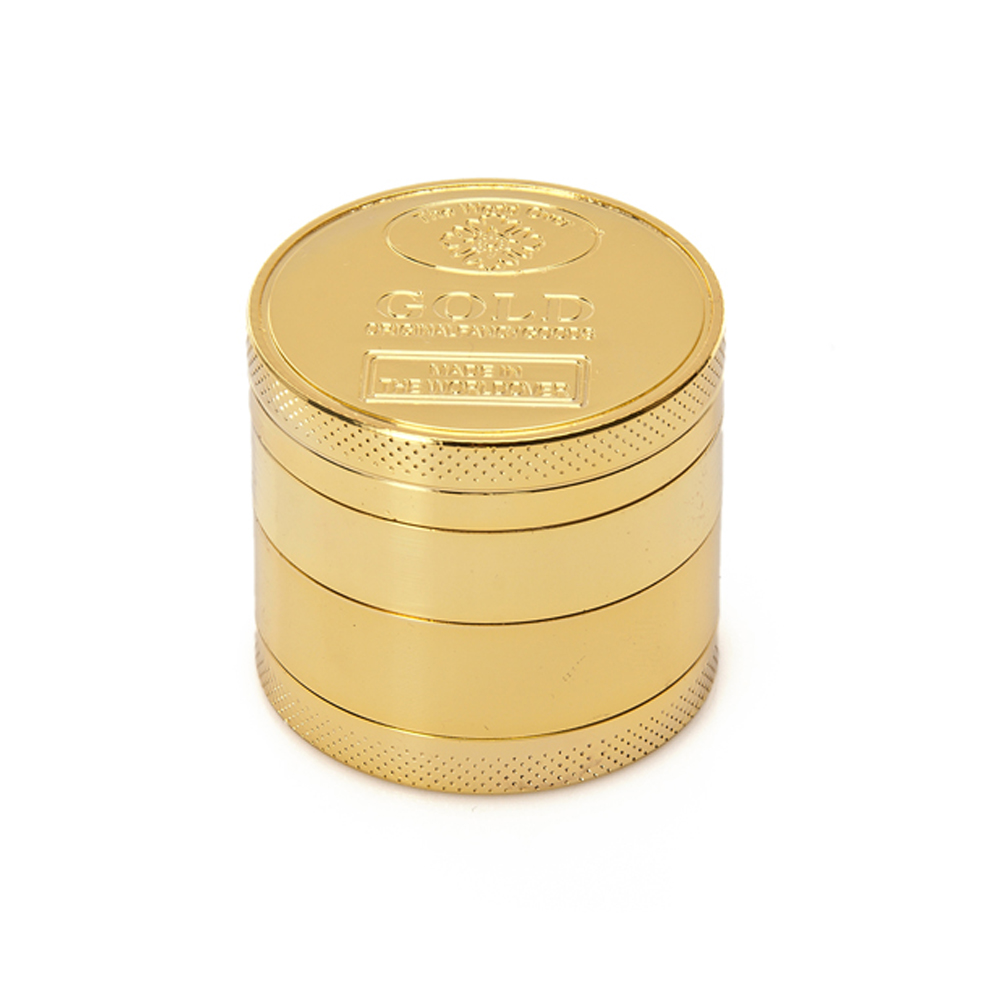Creative Mini 40mm 50mm Metal Zinc Alloy Gold Coin Shape Herb Crusher Smoking Herbal Spice Pollen Hand Muller Tobacco Grinder