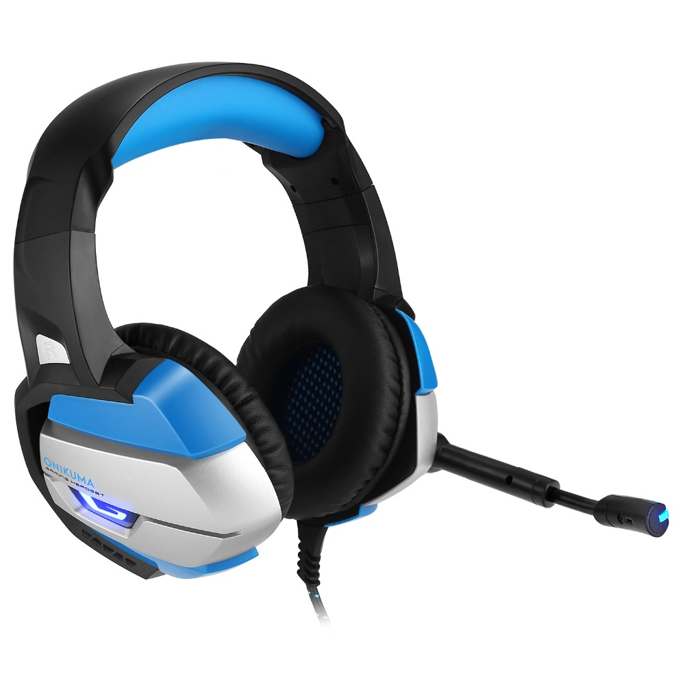 ONIKUMA K5 Best Gaming Headset Gamer casque Deep Bass Gaming Headphones for Computer PC PS4 Laptop Notebook with Microphone LED salar c13 wired gaming headset deep bass game headphones best casque gamer with mic led light headphone for computer pc gamer