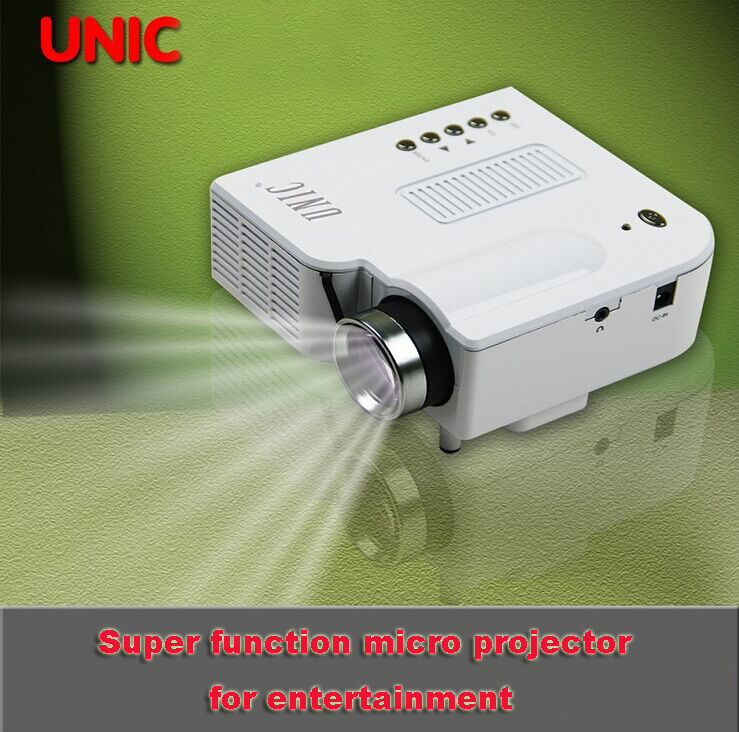 Mini Led Projector Micro Home Portable Projector Support HDMI VGA SD Card AV IN USB Input UNIC UC28+ White uc30 30w portable mini lcd high definition projector w sd av vga hdmi micro usb white