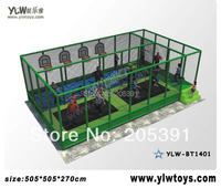 indoor trampoline park with basket and pool,fitness trampoline for kids,sport trampoline with net protecting