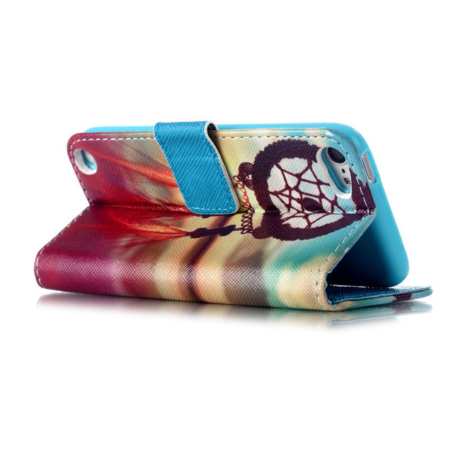 Cute Cartoon Printing Wallet Leather Case For Apple iPod Touch 5 touch5 Touch 6 touch6