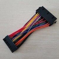 100 шт./лот ATX PSU Стандартный 24Pin женский мини 24 P мужской внутренний адаптеры питания конвертер кабель для Dell 780 980 760 960 PC