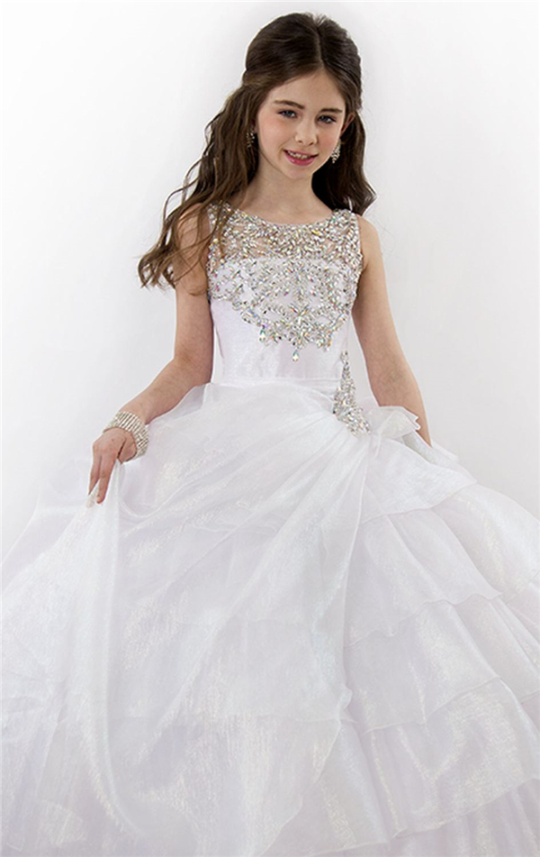 2015Stylish Tiered Ball Gown Corset Flower Girl Dress Beaded Kids Party  Wear Frocks Girls Evening Dress Vestido Daminha De Noiva-in Flower Girl  Dresses from ... f53e0ec2c60b