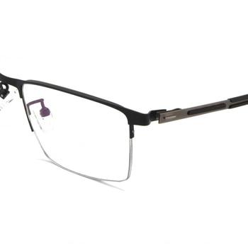 Elastische Scharnier Business Männer Schwarz Half-rim Rahmen Maß Eine Brille Photochrome Grau/Braun Myopie Near- Kurzsichtig