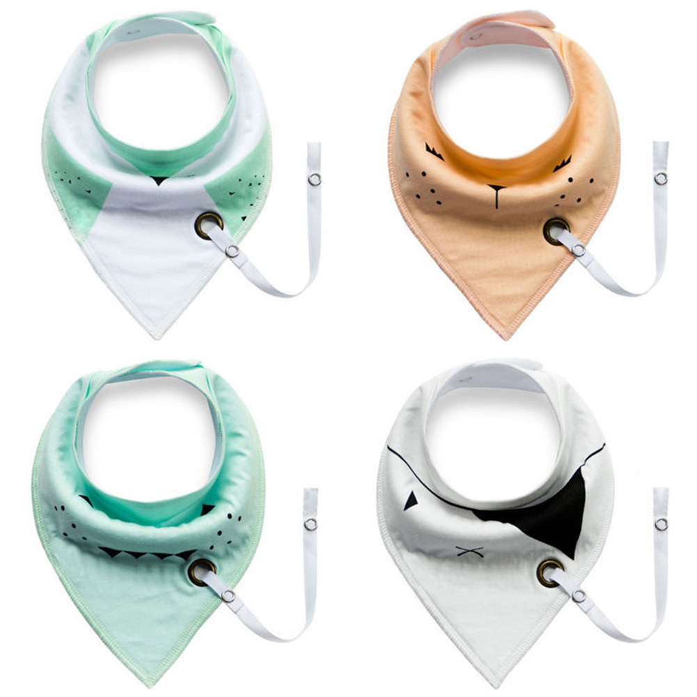 4pcs/set Newborn Dual Use Nipple Lace Toddler Bib Baberos Triangle Baby Bibs Infant Waterproof Neckerchief Bandana 2017 new