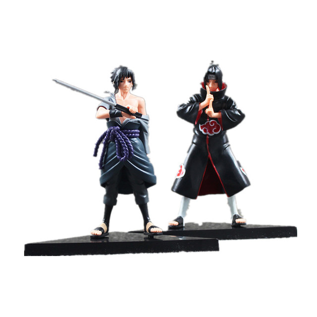 Naruto 2pcs/lot  Uchiha Sasuke Uchiha itachi PVC Action Figures Collectible Model Toy