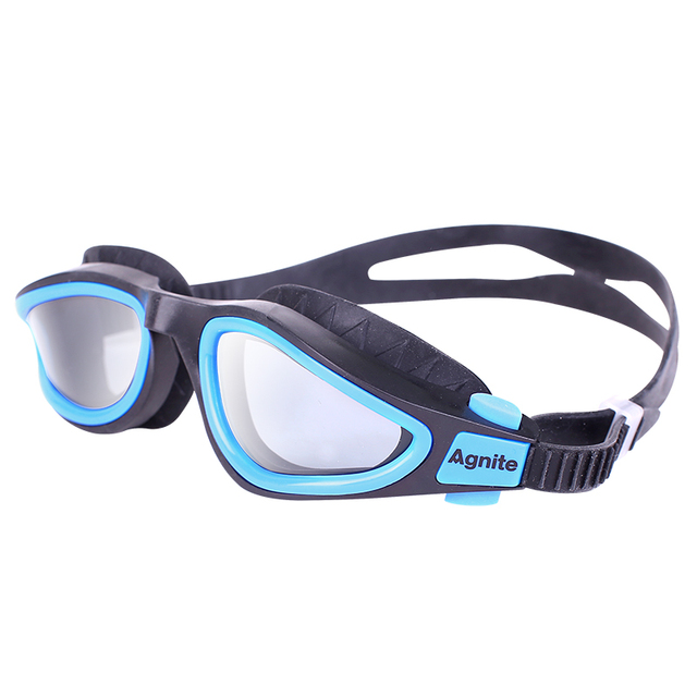 Agnite Adjustable Anti-Fog Protection Swimming Goggles Wide angle design Waterproof silicone glasses adult Eyewear