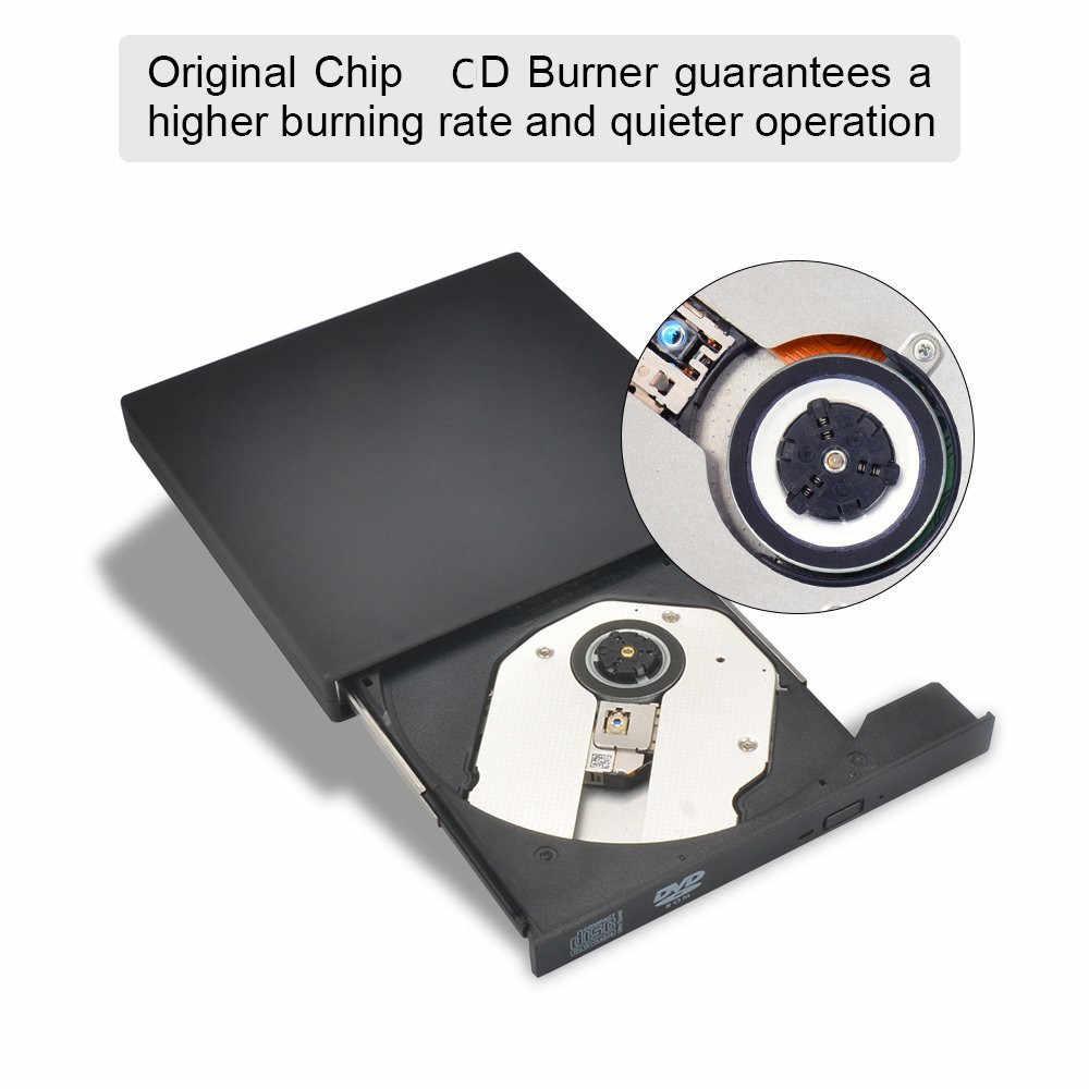 YiYaYo Bên Ngoài DVD ROM Quang USB 2.0 CD/DVD-ROM CD-RW Cầu Thủ Đốt Slim Di Động Đọc Ghi Portatil cho laptop
