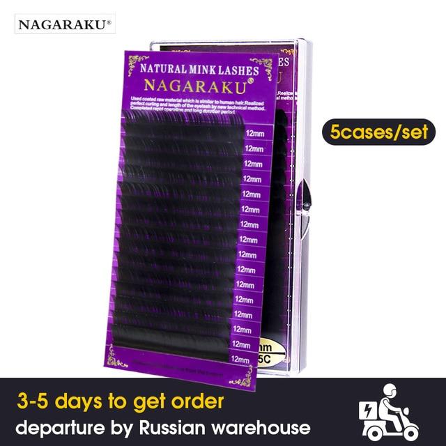 12248f21fd1 NAGARAKU 5 cases/lot faux mink eyelash extension individual eyelashes  natural eyelashes make up maquiagem cilios