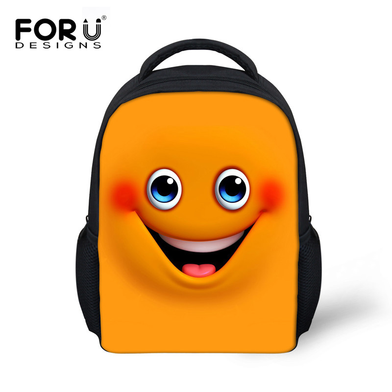 Fashion Little Child Small Backpack Cute Cartoon Smile Face Printing  Backpack Emoji School Bags for Girls Kindergarten Mochilas 970fa9f3bde8b