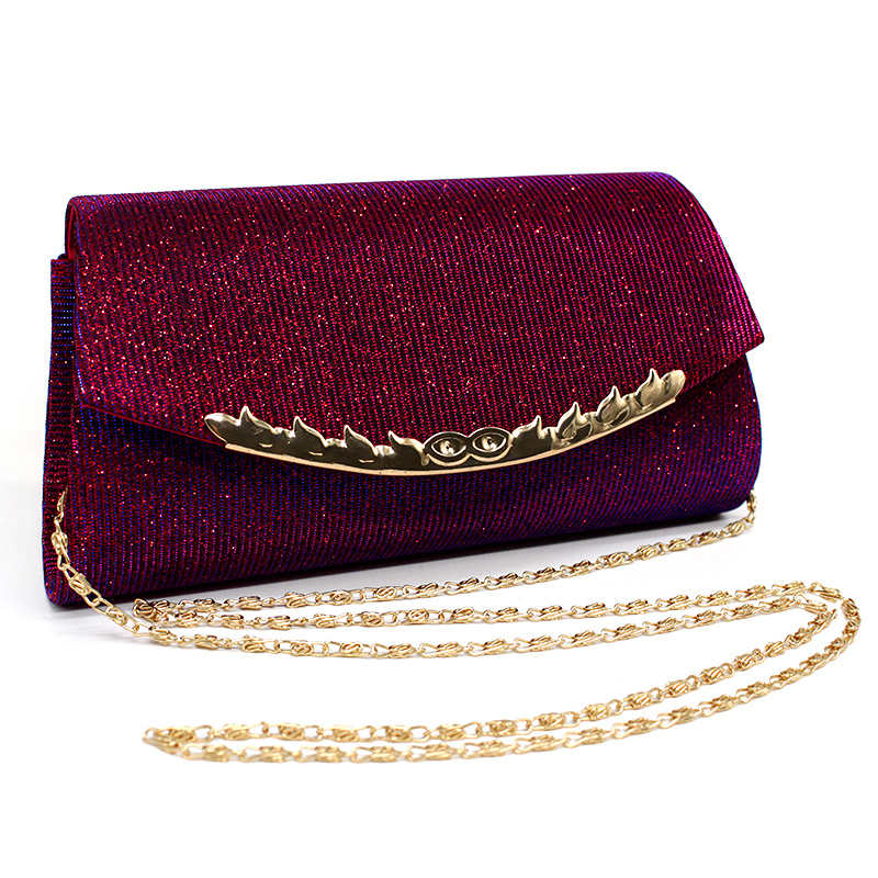 Evening Bag Party Banquet Glitter Envelope Purse Chain Bling Wedding Clutches