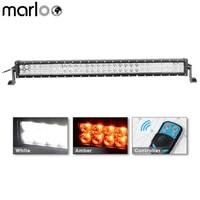 Marloo 32 180W Strobe Flash Remote Controller Amber White LED Lights Bar Off road Truck Atv Trailer Boat 4wd Camping Lights 12V