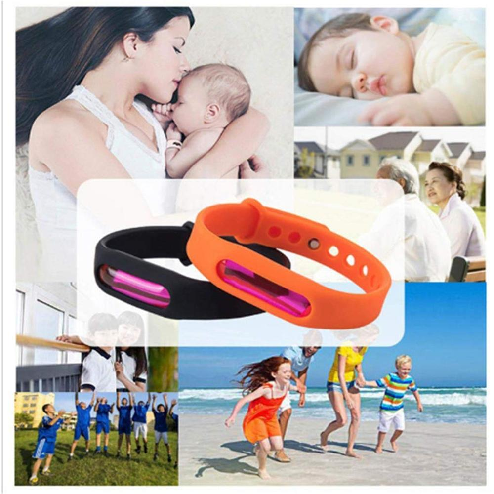 Image 3 - Color Mosquito Repellent Bracelet Summer Environmental Protection Silicone Capsule Bracelet Child Safety Belt Mosquito Killer-in Repellents from Home & Garden
