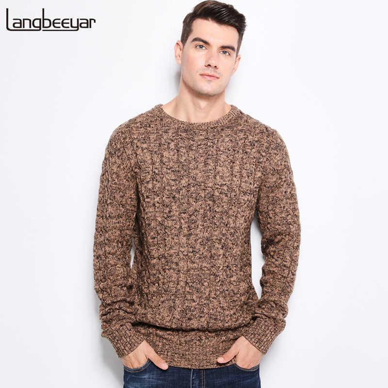 cfa42ca874d07 Новинка 2019 года осень зима Модные для мужчин's свитеры для женщин теплый  толстый Slim Fit мужчин