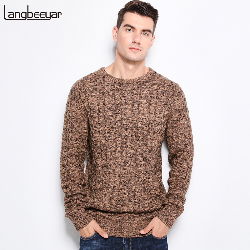 Fashion Men Autumn Winter Knitted Sweaters Casual Slim Fit Blouse Pullovers Size